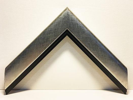 Moulding 9574 Contemporary Silver/Black lip. Width 1.50